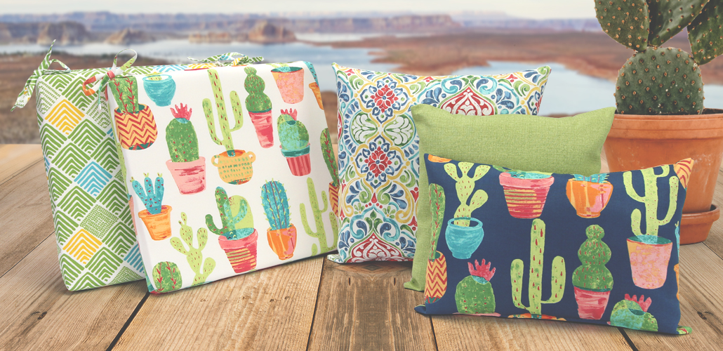 Outdoor Cushions Cactus Fabric